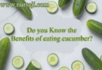 Do you Know the Benefits of eating cucumber.